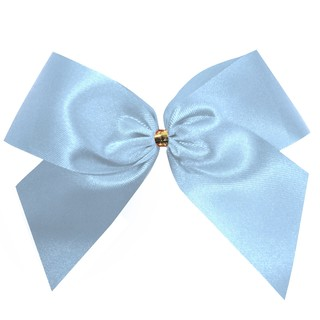 Satin Bow - 12cm - Light Blue - 100pk