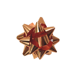 Mini Star Bows - 5cm - Metallic Rose Gold