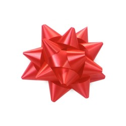 Star Gift Bows - 6.5cm - Red