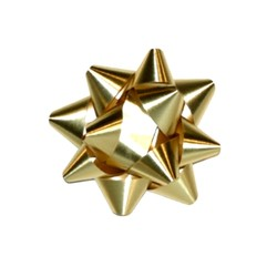 Star Bows - 6.5cm - Metallic Gold