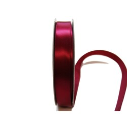 Satin Ribbon - Woven Edge -15mm x 30m - Burgundy