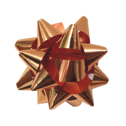 Star Gift Bows - 9cm - Metallic Rose Gold