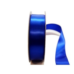 Satin Ribbon - Woven Edge -25mm x 30m - Royal