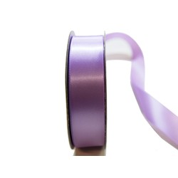Satin Ribbon - Woven Edge -25mm x 30m - Lavender