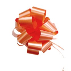 12 x Pull String Pom Pom Bow - Orange