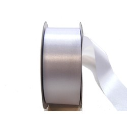 Water Repellent Satin Ribbon - 38mm x 45m - White