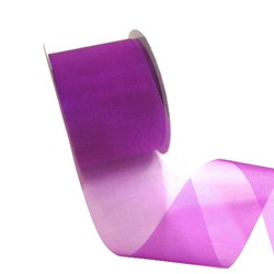 Sheer Organza Cut Edge Ribbon - 50mm x 25m - Purple