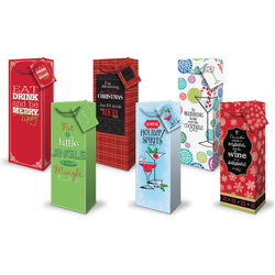 Christmas Bottle Bags - Cheeky Designs