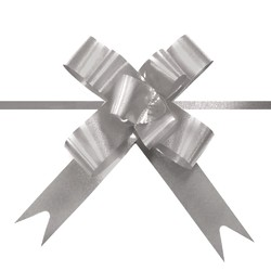Pull String Butterfly Bows -  Mini - Silver
