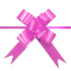 Pull String Butterfly Bows -  Mini - Hot Pink