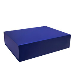 Large Hamper Gift Box - Matt Dark Blue with Magnetic Closing Lid