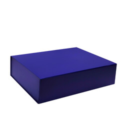 Medium Gift Box - Matt Dark Blue with Magnetic Closing Lid