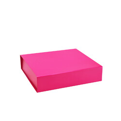 Small Gift Box - Matt Hot Pink with Magnetic Closing Lid