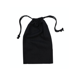 Black Calico Bags 15cm x 25cm with drawstrings