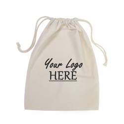Custom Printed Calico Bags 30cm x 40cm with drawstrings - Your Logo
