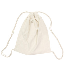 Natural Back Pack Calico Bags 35cm x 41cm with Drawstrings