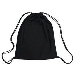 Black Back Pack Calico Bags 35cm x 41cm with Drawstrings