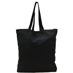 Black Calico Bags with Gusset - 37cm x 42cm x 10cm with two long handles