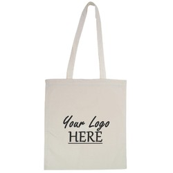Custom Printed Calico Bags 37cm x 42cm with two long handles - Your Logo