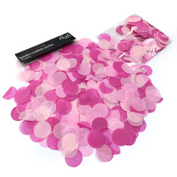 Confetti Tissue - Large Round Circles - Pink Mix