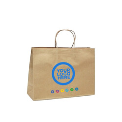 Custom Printed Kraft Bags - Small Boutique - Brown