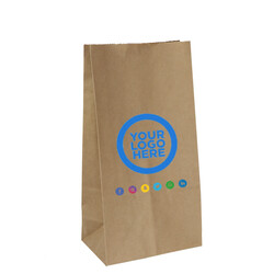 Custom Printed Paper Bags - Brown Kraft Paper Bags