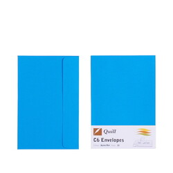 Marine Blue C6 Envelopes - Pack of 25 - 80gsm by Quill