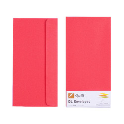 Red DL Envelopes - Pack of 25 - 80gsm by Quill
