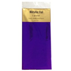 Metallic Foil Wrap - 1 Sheet - Violet