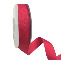 Red Bias Ribbon - 25mm x 25M