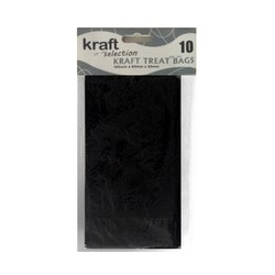 Kraft Treat Bags - 10pcs - Black (Without Handles)