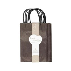 Small Kraft Gift Bags - 5 Pack Black