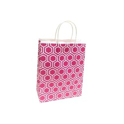 Possible Faulty Handles - Clearance - Kraft Bags - Medium - Moroccan - Pink