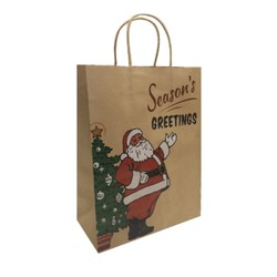 Kraft Bags - Father Christmas - Medium - Brown