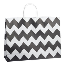Kraft Bags - Boutique - Chevron - Black