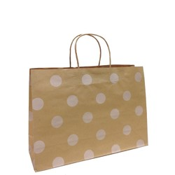 Kraft Bags - Small Boutique - White Dots