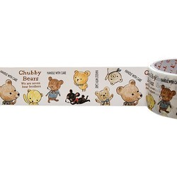 50mm x 15m - Decorative Tape - Chubby Bear