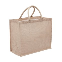 Large Jute Bags With Wide Gusset - Natural