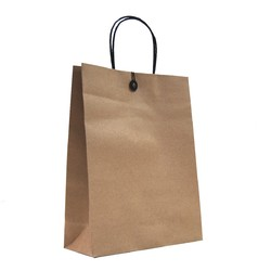Kraft Bags - Premium Kraft Brown Bags with Cotton String & Button Closure - Medium Large