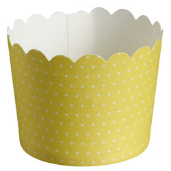 Paper Baking Cups - 24pcs - Dots - Yellow