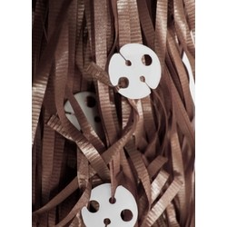 50 x Balloon Pre-Cut Curling Ribbon & Seals - Chocolate Brown