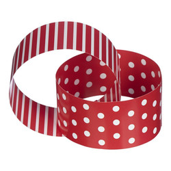 Paper Chain Garland - Dots & Stripes - 3m - Red