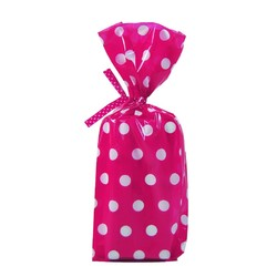 Cello Loot Lolly Bags - 24pcs - Dots - Pink