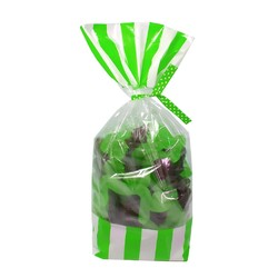 Cello Loot Lolly Bags - 24pcs - Stripes - Green