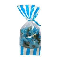 Cello Loot Lolly Bags - 24pcs - Stripes - Blue