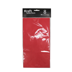 8 x Coloured Paper Bags - Red