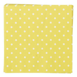 Napkins - 3ply - 33cm x 33cm - 16pcs - Yellow Dots