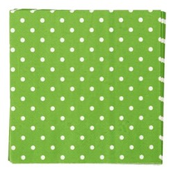Napkins - 3ply - 33cm x 33cm - 16pcs - Green Dots