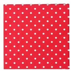 Napkins - 3ply - 33cm x 33cm - 16pcs - Red Dots