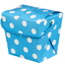 Noodle Box - 4pc - Blue Dots